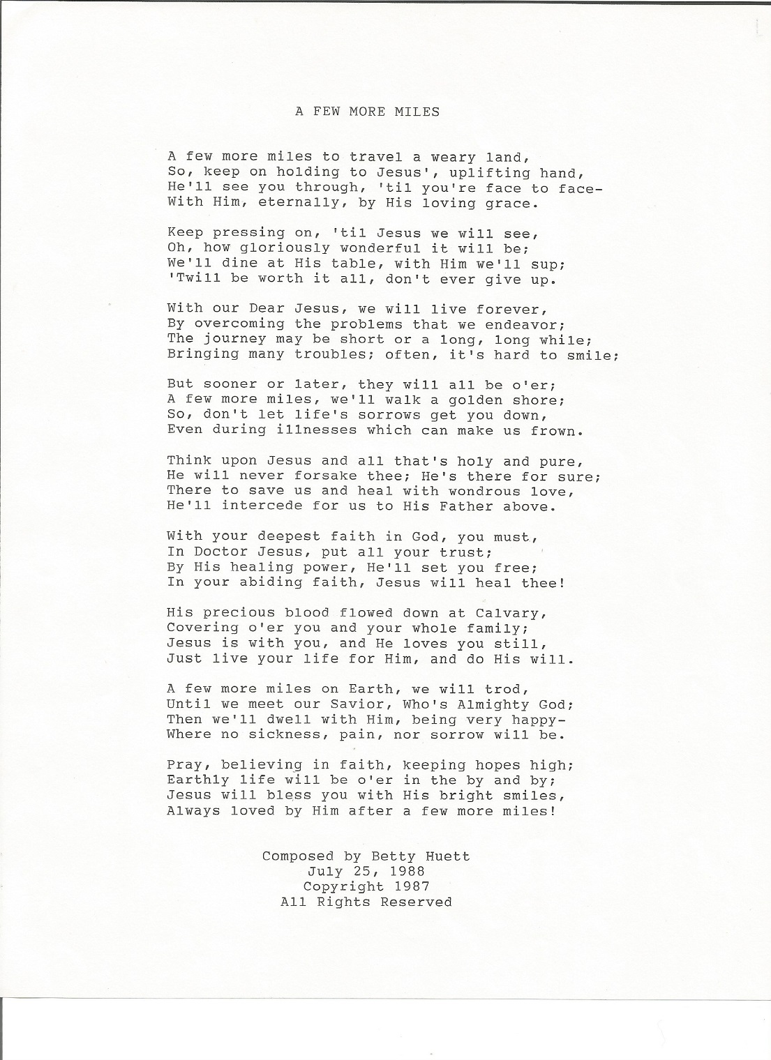 A FEW MORE MILES...poem...Composed by Sister Betty Huett, July 25, 1988  .jpg